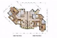 莲花万盛凤凰城D1D2户型:116-118㎡ 三房两厅两卫