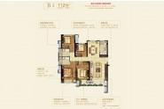 晋江云府B3户型112㎡ 四房两厅一厨两卫