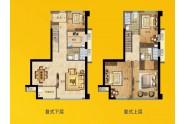 晋江大唐府复式户型 127㎡四房两厅三卫