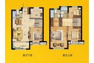 晋江大唐府复式户型 113㎡四房两厅三卫