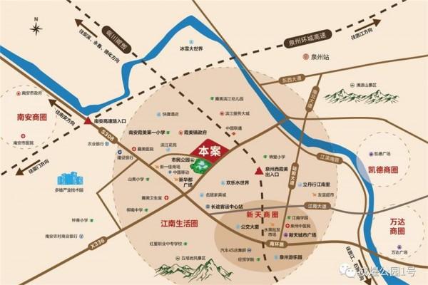 成煌公园壹号交通图