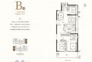 聚龙美的君悦府B户型 109㎡ 三室两厅两卫