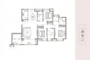 世茂天城二期洋房户型 155m²