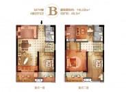 金龙海悦城B户型复式(5#7#):116.02㎡ 四房两厅三卫